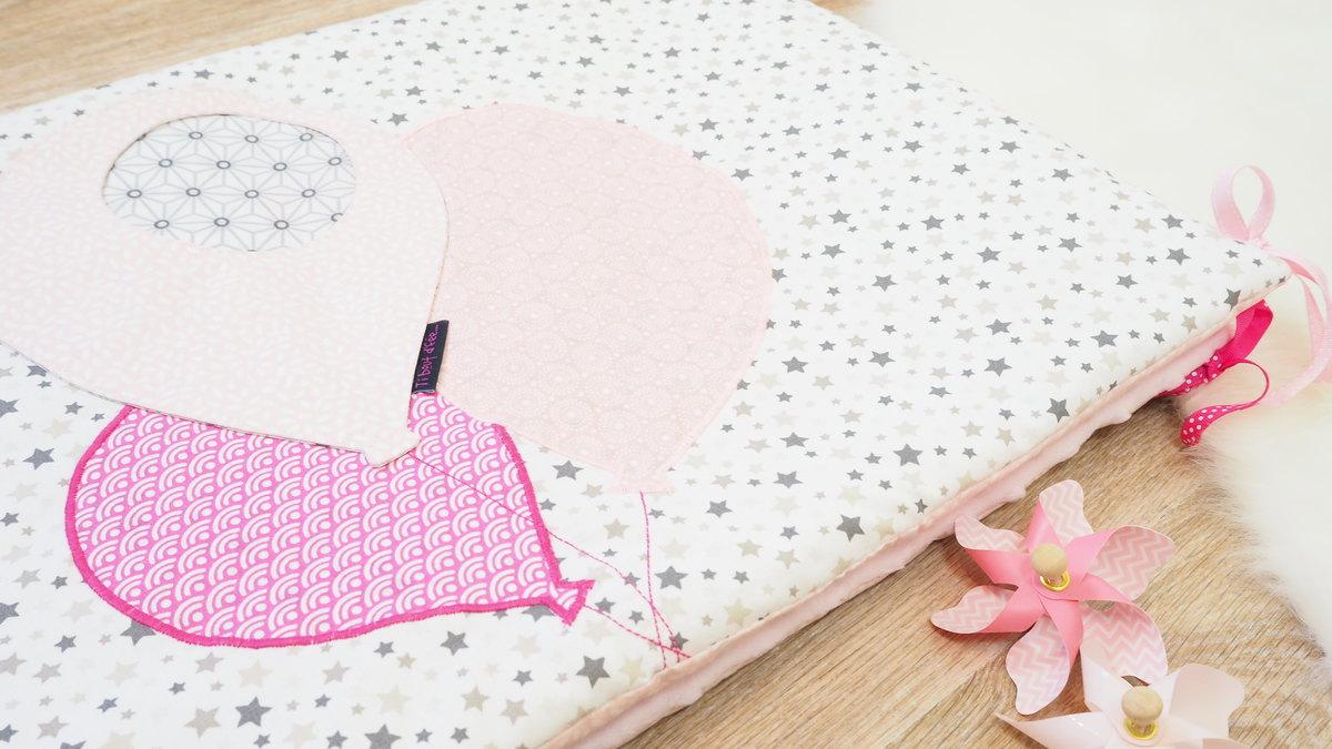 tour de lit fait main petite ourse rose et blanc. Black Bedroom Furniture Sets. Home Design Ideas